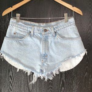 VTG Levi's Orange Tab Student Cut Off Jean Shorts